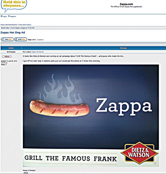 franks zappa web