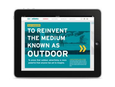 Adams Outdoor Website